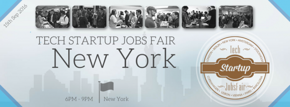 TechStartupJobs Fair New York 2016