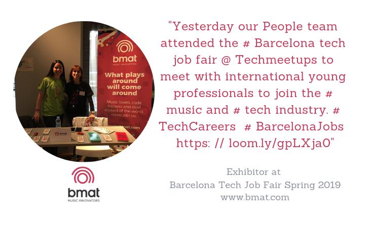 BMAT Barcelona Tech Job Fair 2019