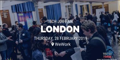 Techmeetups London Tech Job Fair 2019