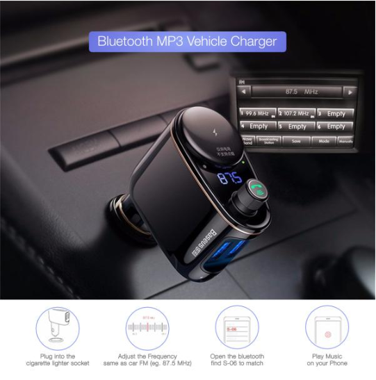 bluetooth wireless car phone charger