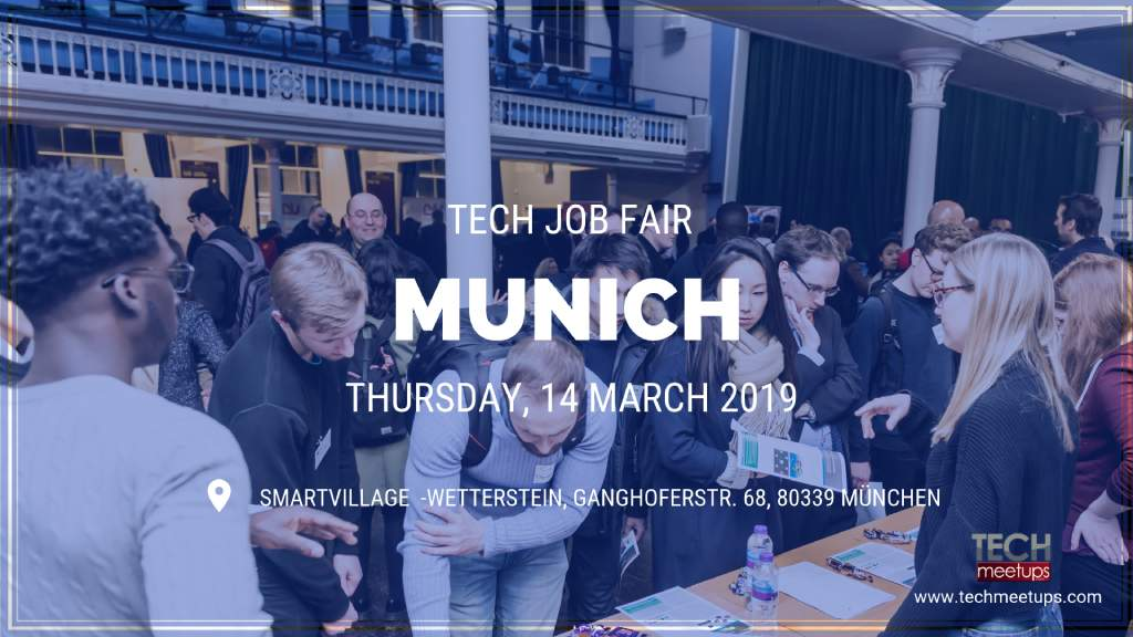 THANK YOU FOR PARTICIPATING IN MUNICH TECH JOB FAIR SPRING BY TECHMEETUPS.COM