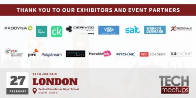 THANK YOU FOR PARTICIPATING IN LONDON TECH JOB FAIR 27TH FEBRUARY 2019 BY TECHMEETUPS.COM