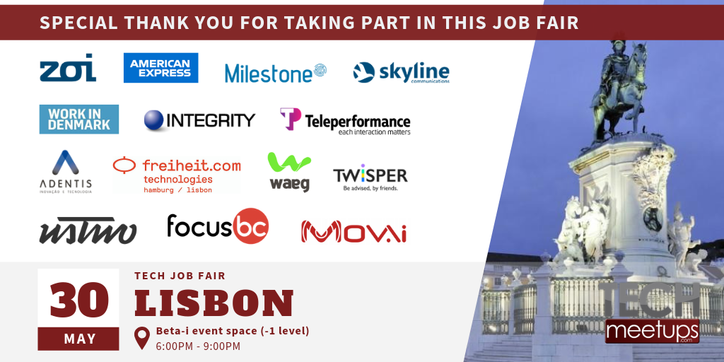 Lisbon Tech Job Fair 2019