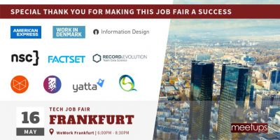 Thank You Frankfurt - Frankfurt Tech Job Fair 2019