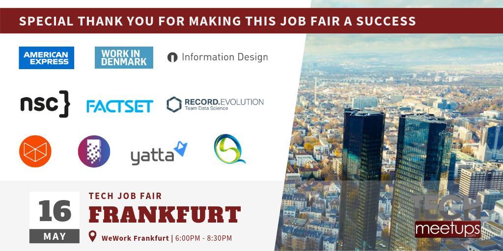 Thank You Frankfurt - Frankfurt Tech Job Fair 2019