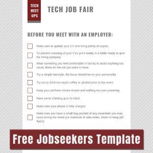 Job seeker event planning image