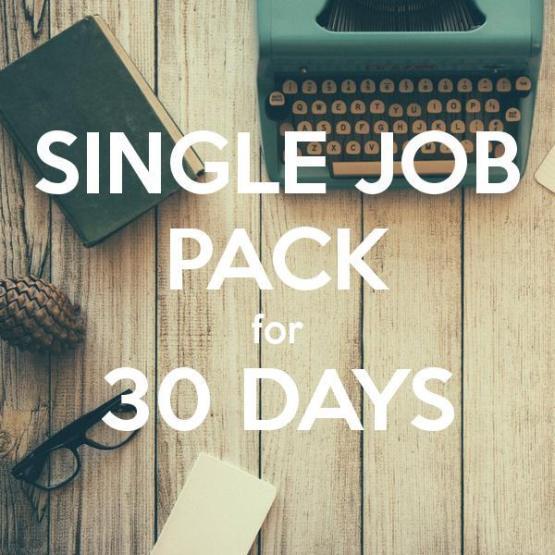Single standard job ad