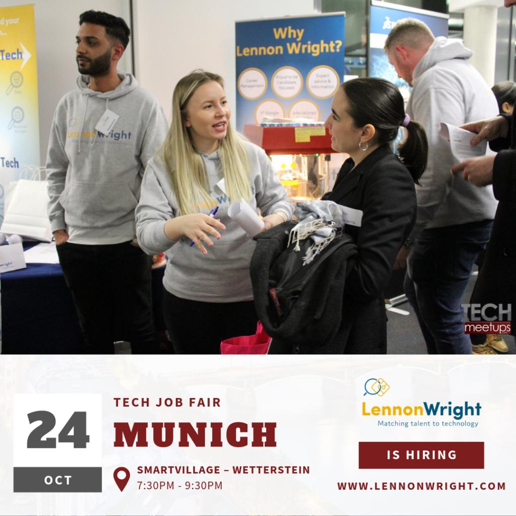 Lennon Wright Munich Tech Job Fair Autumn 2019