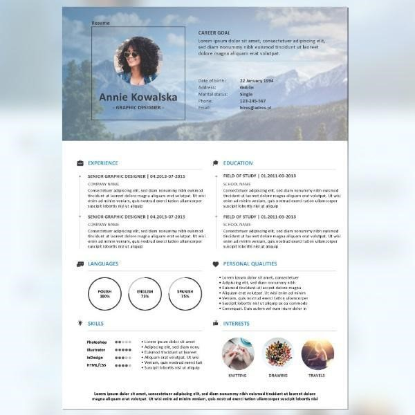 Affordable CV Template