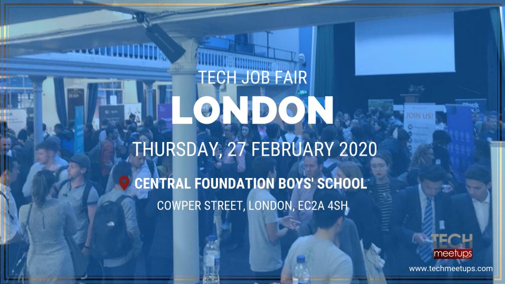 Fair February 09 2020.London Tech Job Fair Spring 2020 By Techmeetups Com