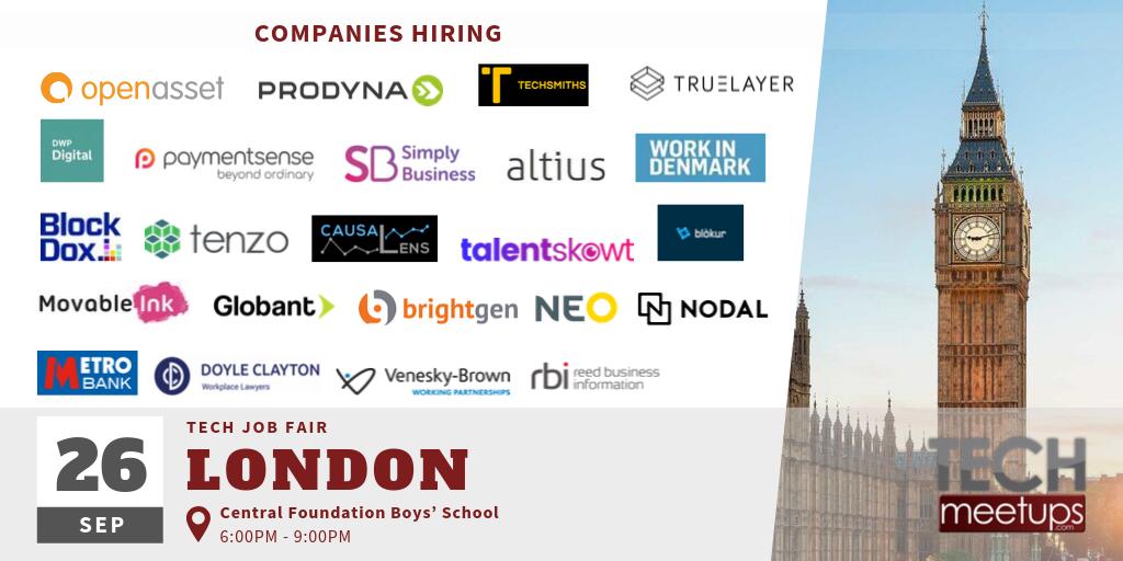 London Tech Job Fair Autumn 2019