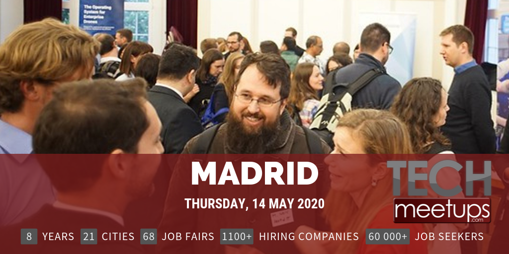Career Fair Near Me 2020.Madrid Tech Job Fair 2020 By Techmeetups Techmeetups