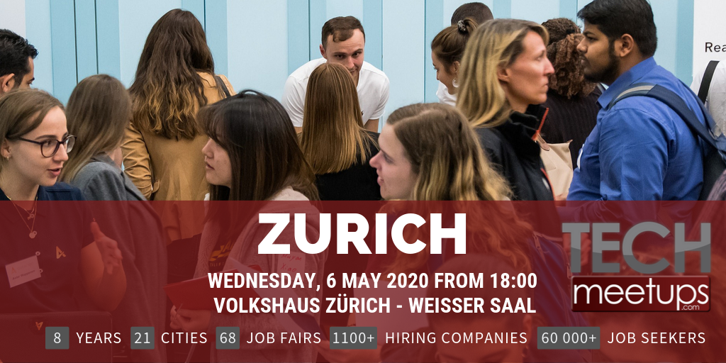 Career Fair Near Me 2020.Zurich Tech Job Fair Spring 2020 By Techmeetups Techmeetups