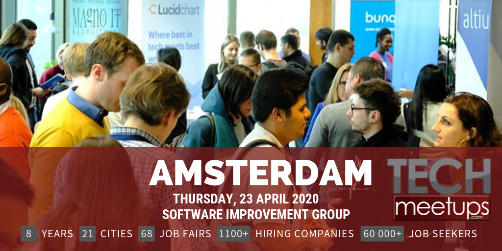 Career Fair Near Me 2020.Amsterdam Tech Job Fair Spring 2020 By Techmeetups Techmeetups