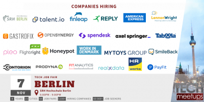 Berlin Tech Job Fair Autumn 2019