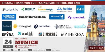 Munich Tech Job Autumn Fair 2019