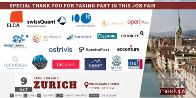 Zurich Tech Job Fair Autumn 2019 Thank You