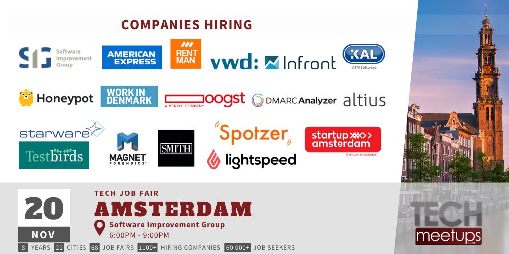 Amsterdam Tech Job Fair Autumn 2019 Updated
