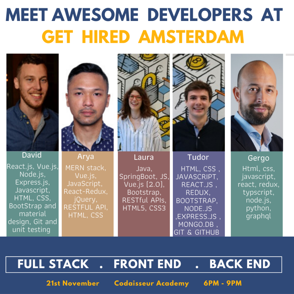 Awesome Developers and Great Companies Meet at Get Hired Amsterdam 2019