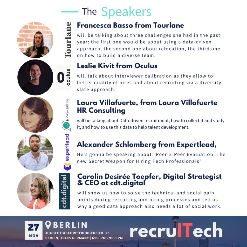 Speakers Final - recruITech Berlin 2019