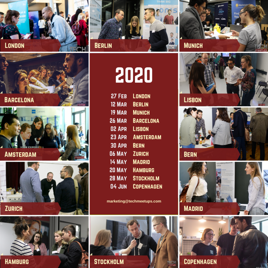 TechMeetups Upcoming Events Spring 2020
