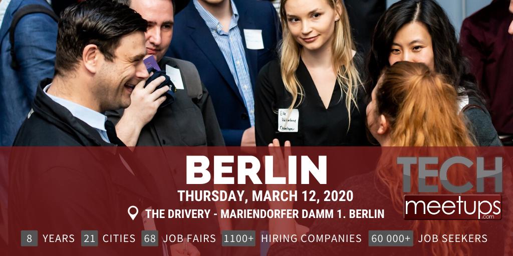 BERLIN TECH JOB FAIR SPRING 2020