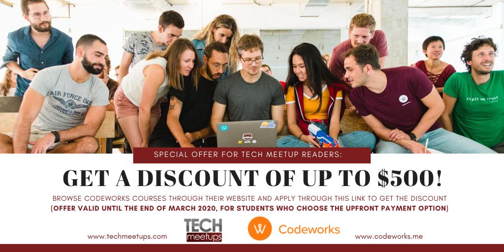 Codeworks TechMeetups Readers Offer