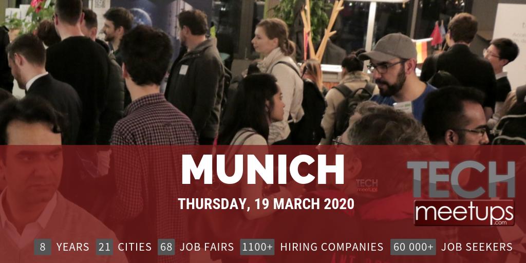 MUNICH TECH JOB FAIR SPRING 2020
