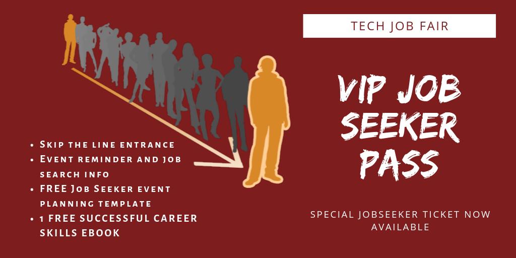 TechMeetUps VIP Job Seeker Pass