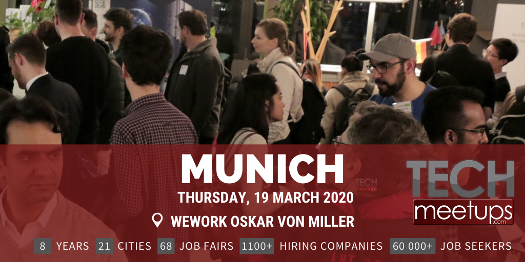 MUNICH TECH JOB FAIR SPRING 2020