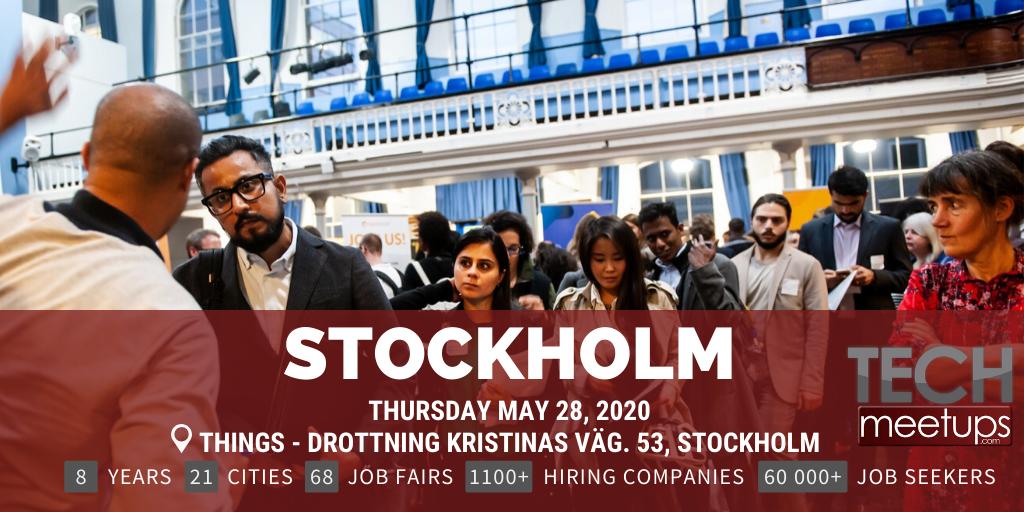 STOCKHOLM TECH JOB FAIR SPRING 2020