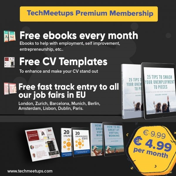 TECHMEETUPS PREMIUM MEMBERSHIP