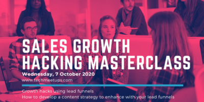 Sales Growth Hacking Masterclass by TechMeetups.com