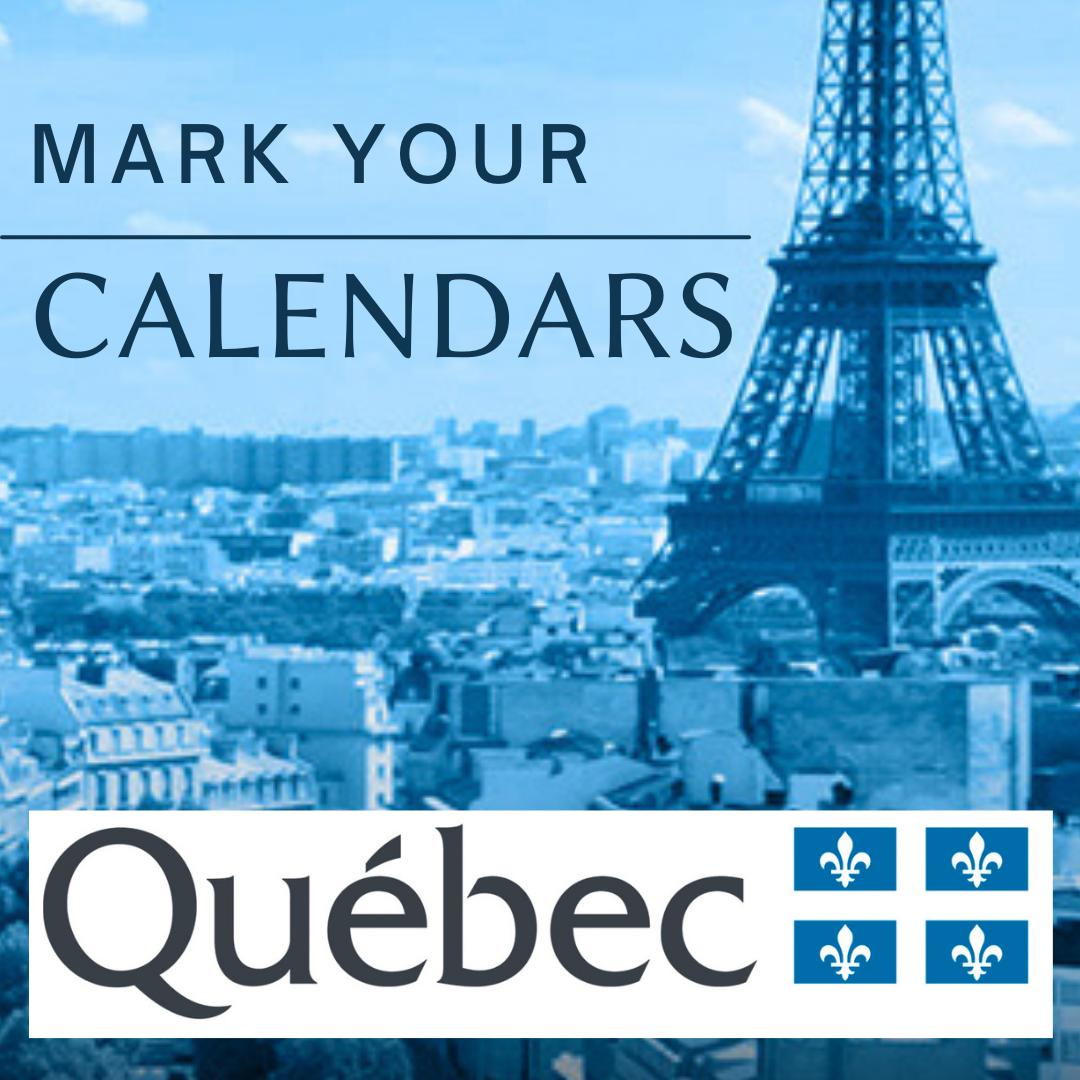 Journées Québec (24the edition 6 to 11 decembrer2021)